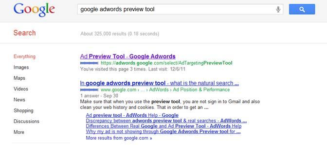 Ad preview tool google adwords как рекламировать магазин кальянов